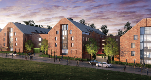 Work starts on 1,200 student rooms at University of Surrey