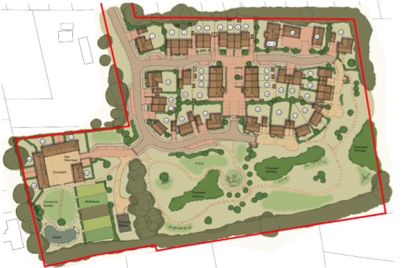 New plans for 45 homes at Woodcote