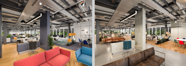 Take virtual tours of Arlington's Building 1320 in alternative fit outs